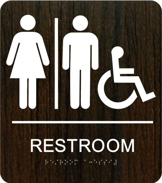 Unisex bathroom signs tatoo writing sex video for Unisex handicap bathroom sign