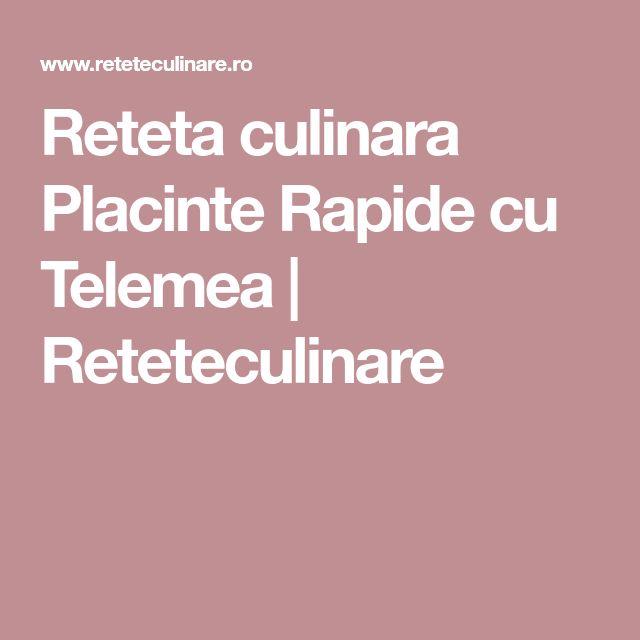 Reteta culinara Placinte Rapide cu Telemea | Reteteculinare