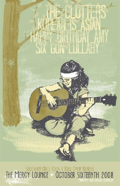 GigPosters.com - Happy Birthday Amy - Korean Is Asian - Six Gun Lullaby - Clutters, The