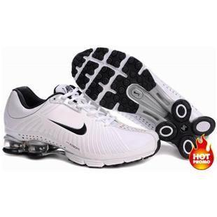 www.asneakers4u.com Mens Nike Shox R4 White Black Cushion Net
