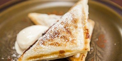 Try this Hot Apple Pie Jaffle recipe. This recipe is from the show Everyday Gourmet.