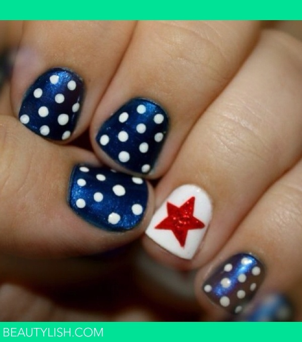 A fun 4th of July manicure to send everyone into the long weekend: July Nails, 4Thofjuly, Nailart, Patriotic Nail, Nail Designs, 4Th Of July, July 4Th, Nail Ideas, Nail Art