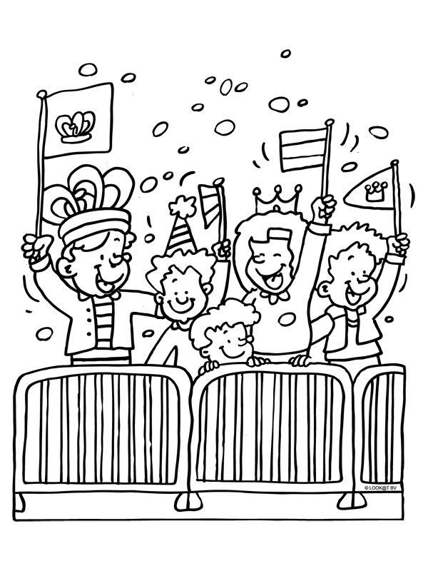 Koningsdag / Koninginnedag kleurplaat  www.sorprentas.com
