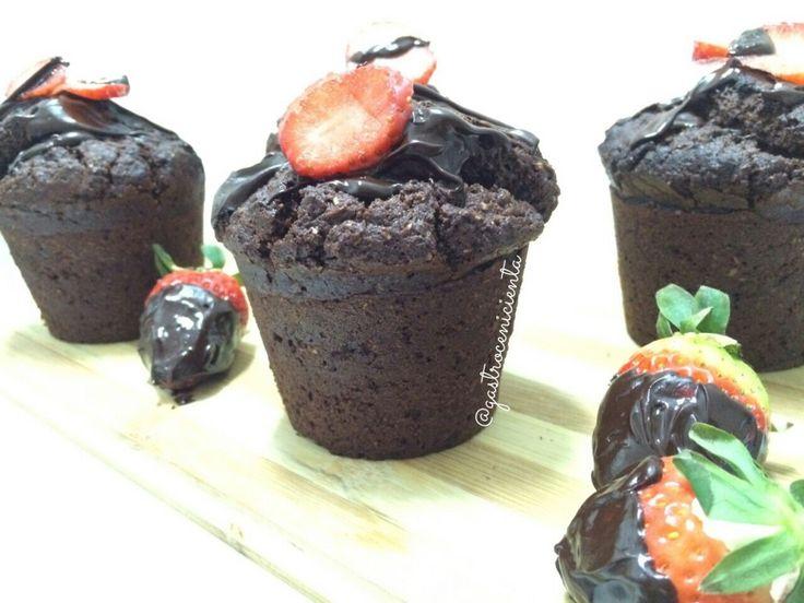 Muffins Veganos de Chocolate (Para un estreno muy esperado) #vegan #veganmuffins