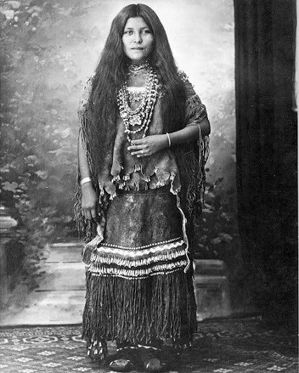 Apache woman, circa 1894. Via http://a-harlots-progress.tumblr.com/post/37196125737/apache-woman-circa-1894
