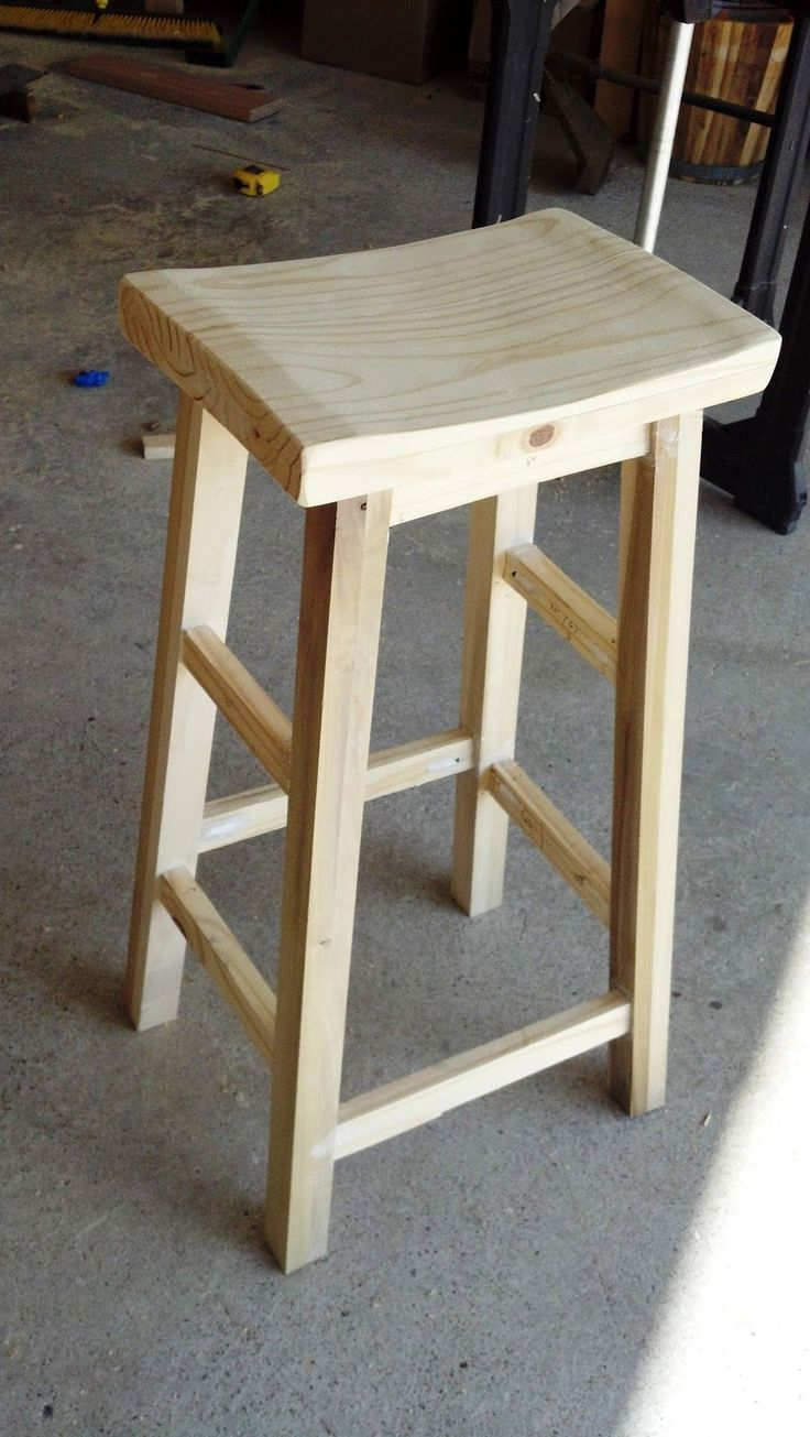 DIY Woodworking Ideas Lazy Liz on Less: Barstools