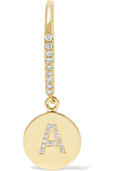 Jennifer Meyer - 18-karat Gold Diamond Earring - W