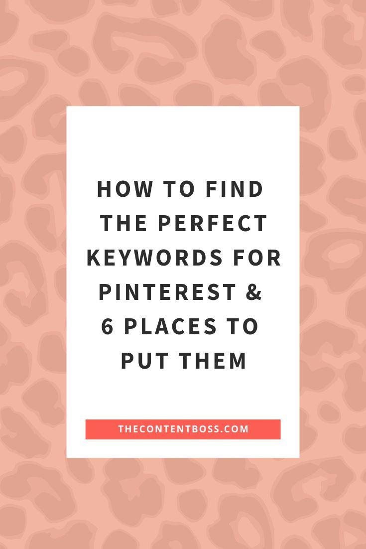 Keywords auf Pinterest: So finden Sie die perfekten Keywords und 6 Orte, an denen Sie sie platzieren können