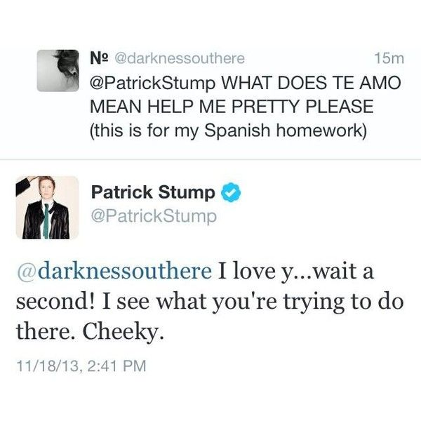fob fall out boy Patrick Stump patrickstump patrick tweets ❤ liked on Polyvore featuring fall out boy, fob, tweets, bands and pictures
