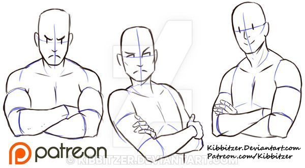 Crossed Arms reference sheet by Kibbitzer on DeviantArt