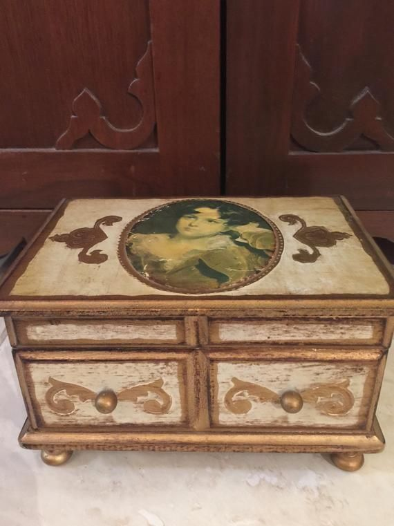 Japanese Musical Box : japanese, musical, Vintage, Florentine, Style, Japanese, Music, Jewelry,