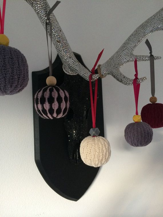 Crocheted Christmas ornaments Hæklet by EtKreativtSindShop on Etsy
