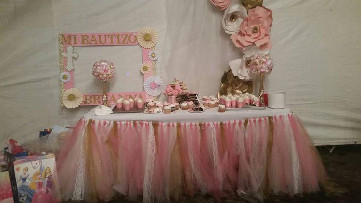 Falda tutú mesa candy buffet falda