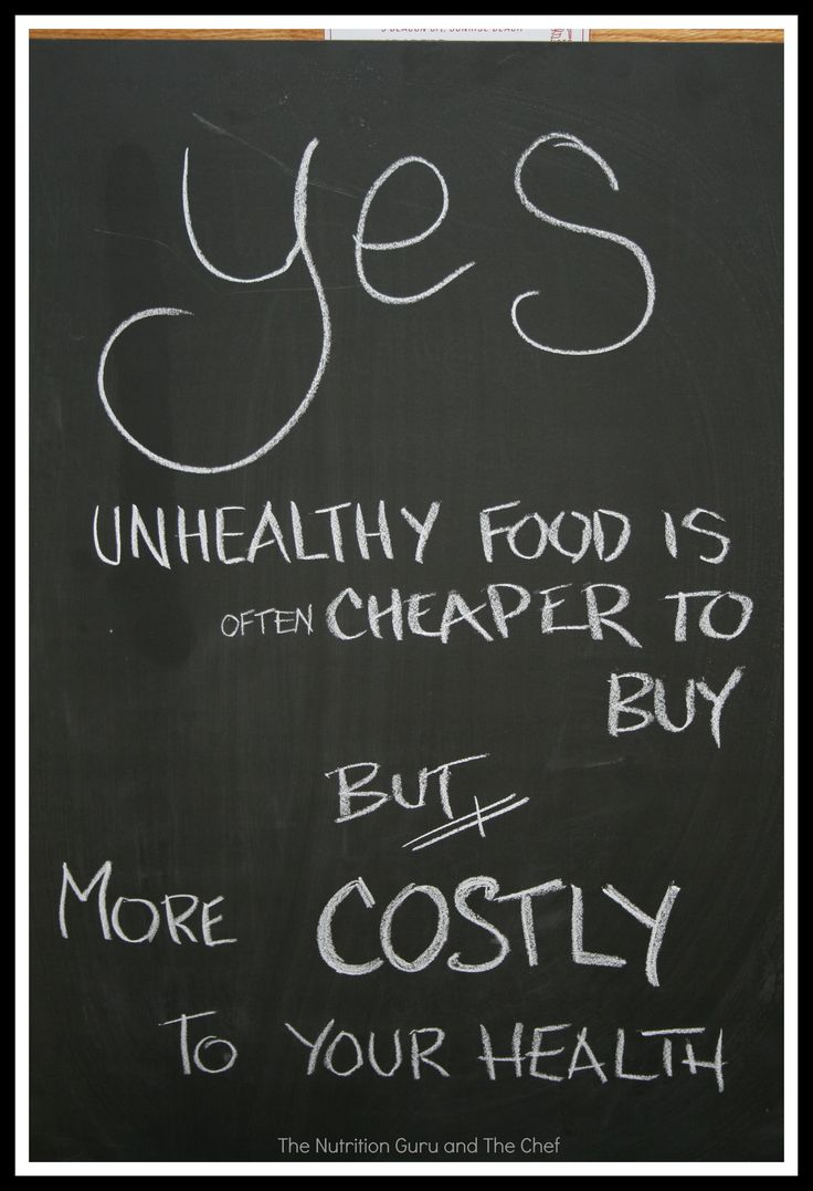 Unhealthy food costs you your health