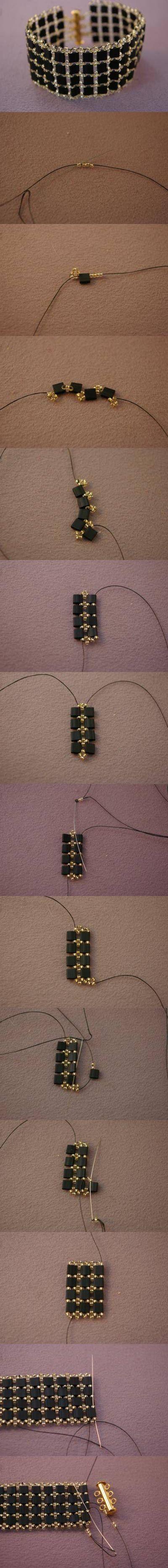 DIY Beadwork Bracelet