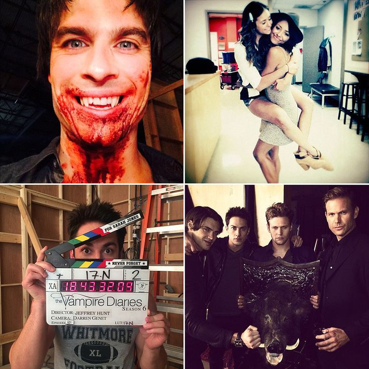 The Vampire Diaries Cast Season 6 Set Pictures... The only thing I care about here, is the fact that Matt Davies is back!!! :D