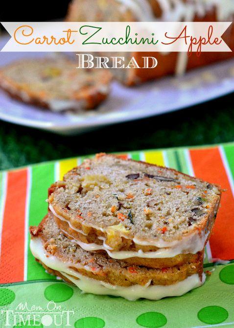 Carrot Zucchini Apple Bread::