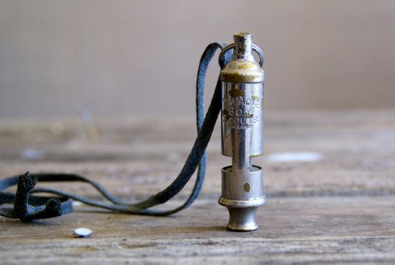 Boy Scout Whistle Necklace // Acme by Larch Trading Company on Etsy