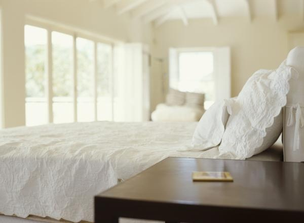 Interior Decorating for Pale White Bedrooms