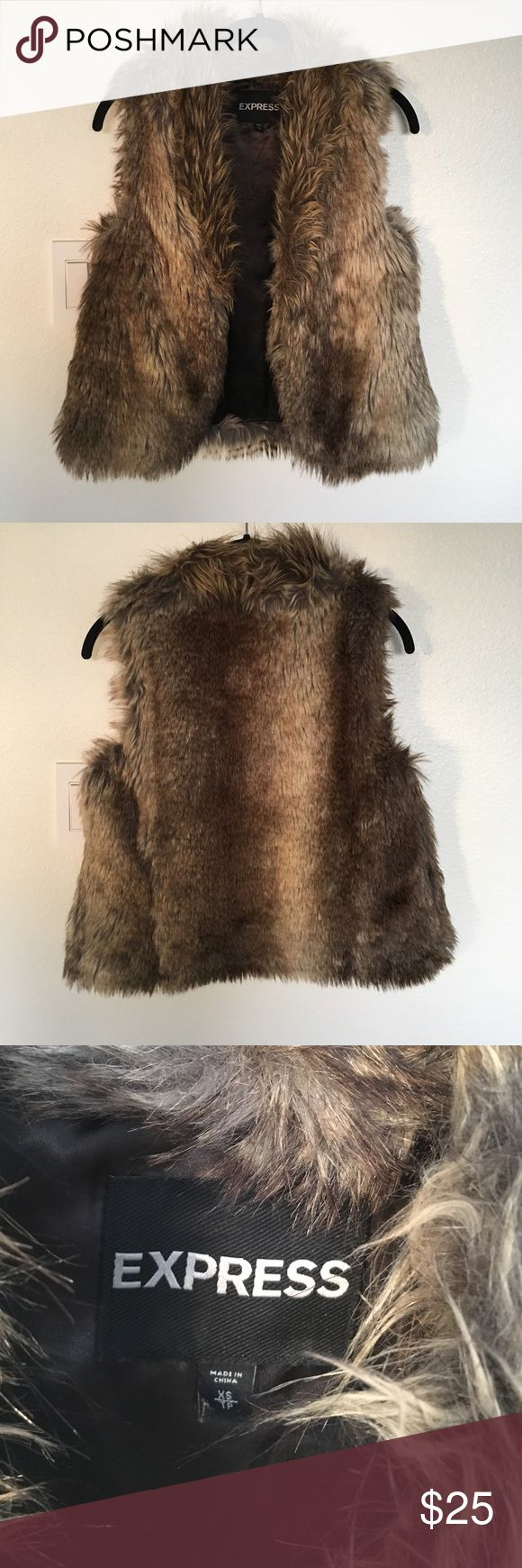 Express faux fur vest  XS Express faux fur vest  XS Express Jackets & Coats Vests