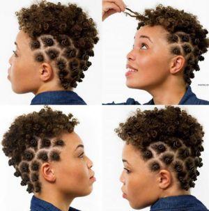 bantu knots on short hair