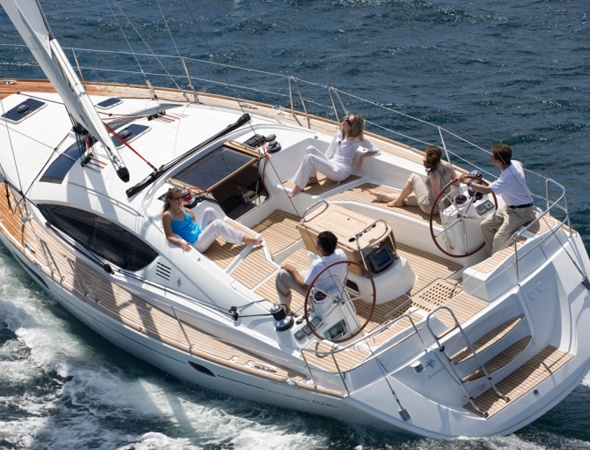 I say sell the house and live on this:  Jeanneau 45 DS Sailboat