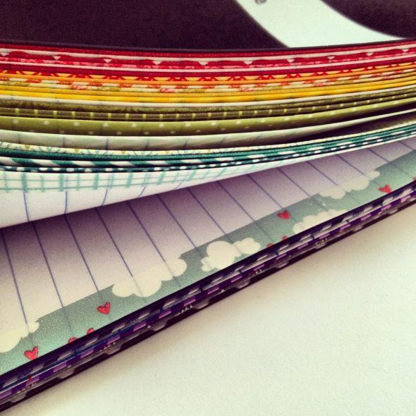washi tape on edges of paper genius!