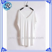 Custom Rayon spandex women plain white t-shirts wholesale  best seller follow this link http://shopingayo.space