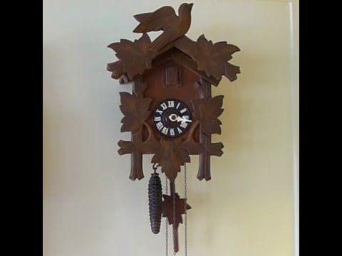 Antique cuckoo clock repair - YouTube