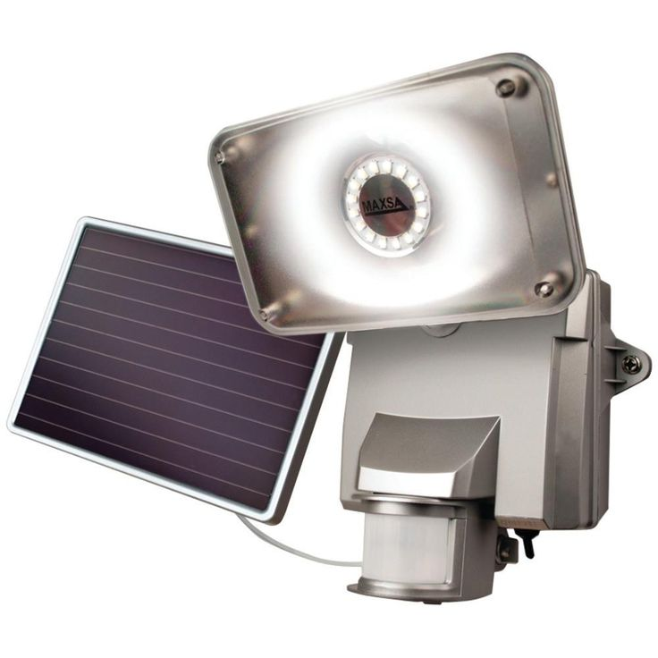 MAXSA INNOVATIONS 44640 Motion-Activated Solar LED Security Flood Light (Silver)