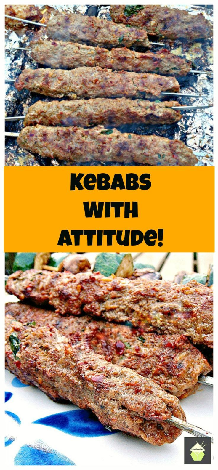 Kebabs With Attitude! These are a spicy, moist kebab, full of flavor and perfect for grilling!