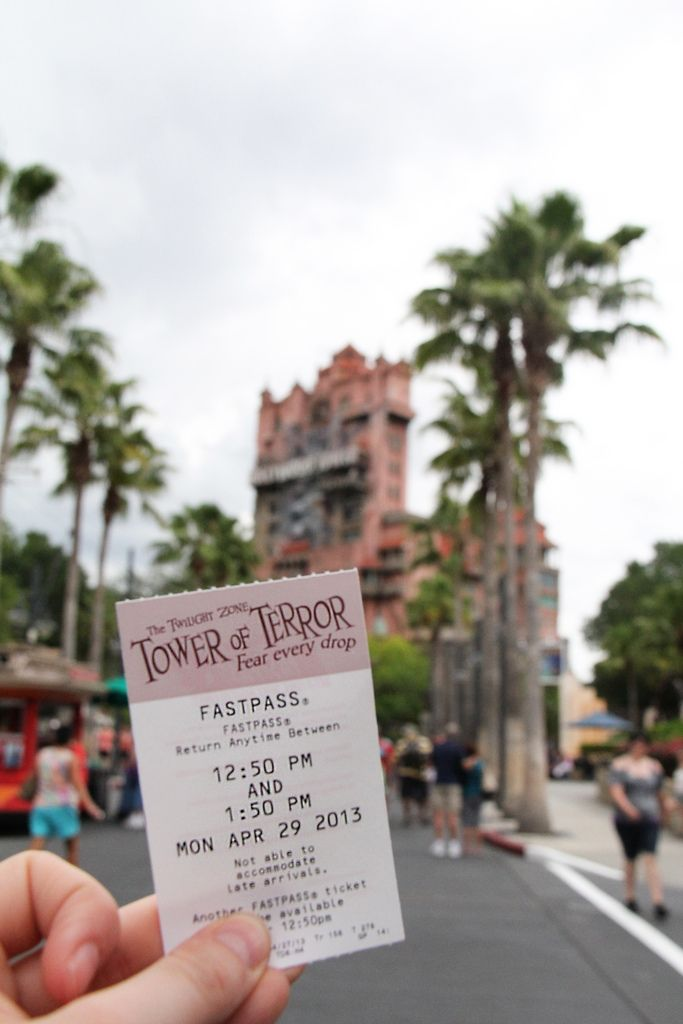 Tower of Terror.  Gone are the paper fast passes.   Welcome new technology. So sad I already miss the paper fastpasses!!!!