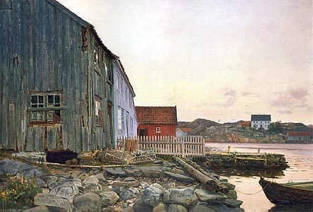 Amaldus Clarin Nielsen (1838-1932): The Fisherman's House in Old Hellesund, 1895