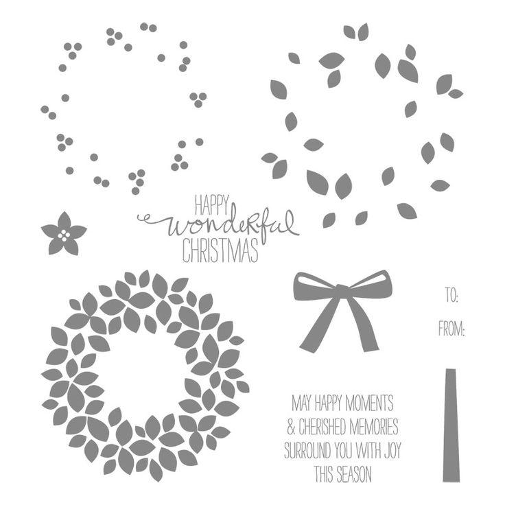 Wondrous Wreath stamp set, Stampin' Up!