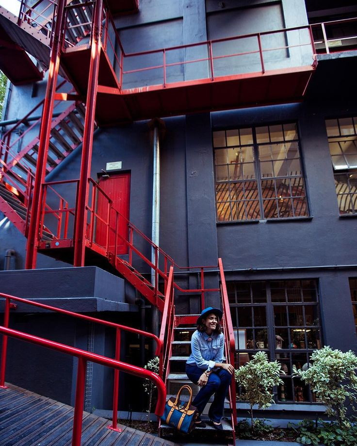 woodstock exchange, cape town, south africa, emergency exits, red exteriors, red, design