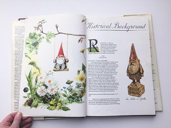 Gnomes Illustrated Book Rien Poortvliet Illustrations Harry N Abrams Gnomes Book Gnome Coffee Table Book 1970 S Art Book Illustration Gnomes Book Book Art