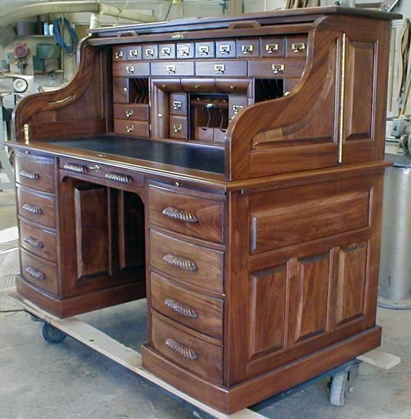Custom Made Custom Built Roll Top Desk Patti Vasquez Schreibtisch Antike Mobel Esszimmerschrank