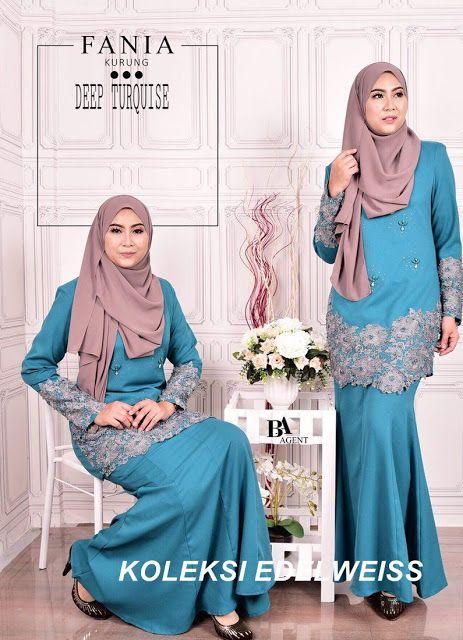 KOLEKSI EDELWEISS Baju Pengantin,Baju Nikah dan Tunang Muslimah Terkini: Fania Baju Kurung Moden 2017