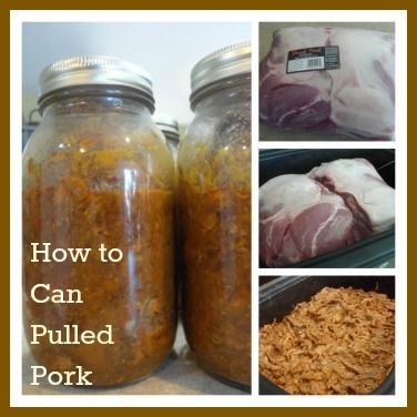 How to can pulled pork with a pressure canner. Great food storage item!