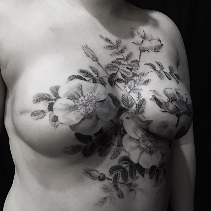 1081 best breast cancer images on pinterest for Female nipple tattoos