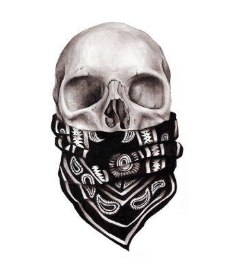 3D Gangster Skull Tattoo Design                                                                                                                                                                                 More