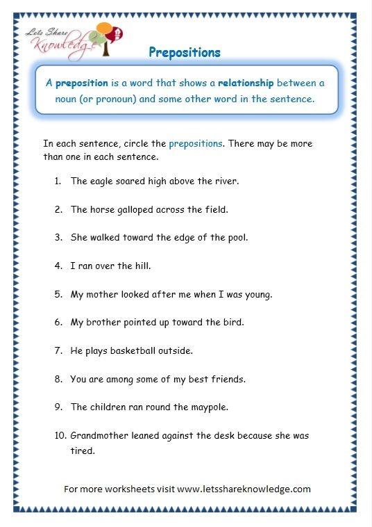 page 5 prepositions worksheet exercises prepositions adjective worksheet grammar worksheets. Black Bedroom Furniture Sets. Home Design Ideas