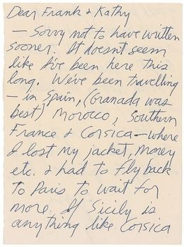 Rare Jim Morrison letter sold at RR Auction #JimMorrison