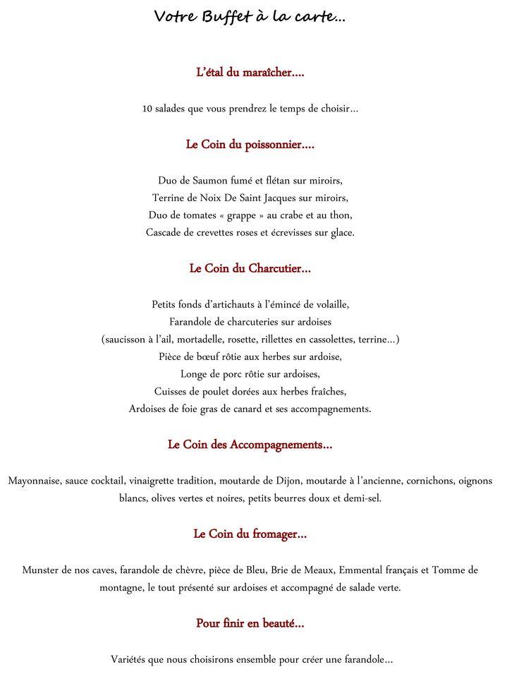 Gut bekannt Les 25 meilleures idées de la catégorie Menu mariage restaurant  MH94