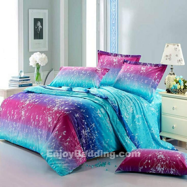 girls comforter sets queen size | Forest Scene Full Size Bright Color Bedding Sets - EnjoyBedding.com