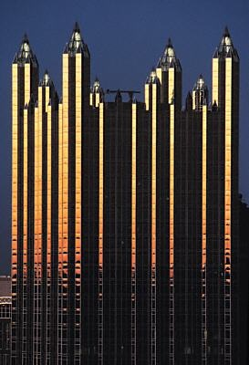 PPG Industries, Pittsburgh.  Imposing, too much glass, crowned: Hate it