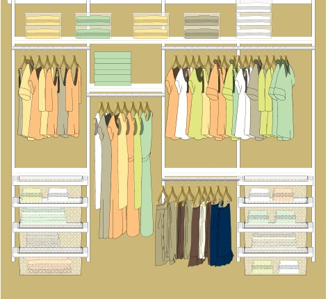 closet organization idea; building our master closet (small to medium in size).