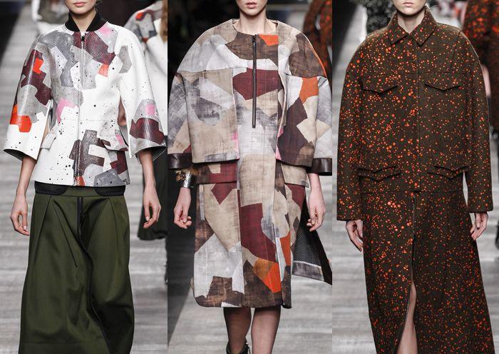 Milan Fashion Week – Fendi Autumn/Winter 2014/2015 – Print Highlights – Part 1 catwalks