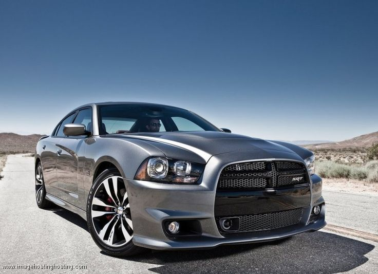 Silver 2013 Dodge Charger SRT8 in the desert.