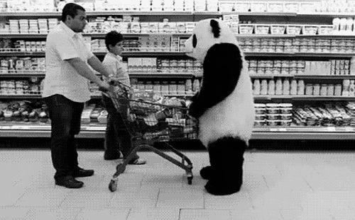 supermarket panda